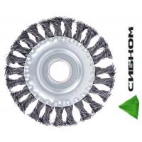 Щетка металлическая для УШМ 125мм/22мм, крученая, дисковая