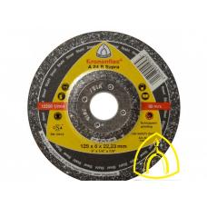 Зачистной круг A 24 R Supra Klingspor по стали 125х6х22